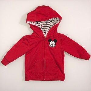 DISNEY Baby Mickey Mouse Zip Up Sweatshirt Hoodie